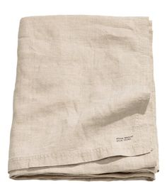 H&M | Washed linen tablecloth with double-stitched seam at edges. Tumble drying will help keep linen soft. - Visit hm.com to see more.