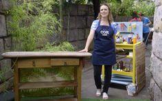 Transforme uma penteadeira ou escrivaninha sem uso em uma charmosa jardineira!