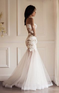 15 Stunning Sheer, Nude and Illusion wedding dresses | see them all at www.onefabday.com