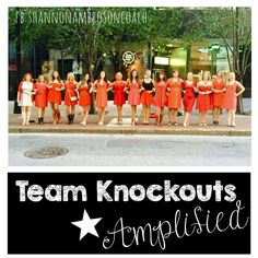 Team Knockouts is hosting a month long campaign to AMPLIFY our reach by adding to our team in a BIG WAY. We are looking for motivated and fun people to add to our FAMILY of coaches.  Are you ready to grow with us as a business owner?  Take the first step and message me at shannonambroson@gmail.com and follow my team's success at facebook.com/shannonambrosonCOACH <3