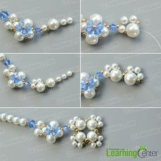 Detailed Tutorial on How to Make an Exquisite Pearl Bead Flower Pendant Necklace: Searching for pearl necklace designs? Today we'd like to share you a very exquisite pearl bead flower pendant necklace, I bet you'll like the design. Diy Bracelets Patterns, Beaded Jewelry, Beaded Bracelets, Necklaces, Pearl Necklace Designs, Heart Shaped Necklace, Beaded Ornaments, Snowman Ornaments, Glass Ornaments