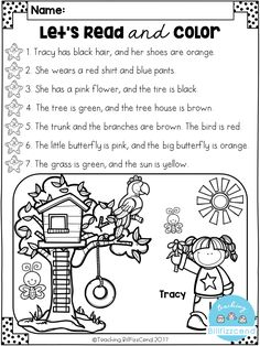 FREE Reading Comprehension Activities : FREE Read and Color Listening Comprehension These are super duper cute read and color pages. Perfect for your first grade students. These can also be used as listening comprehension for your kindergarten students. Free Kindergarten Worksheets, Kindergarten Literacy, Literacy Activities, Literacy Centers, Listening Activities For Kids, 1st Grade Reading Worksheets, First Grade Activities, Literacy Skills, Language Activities