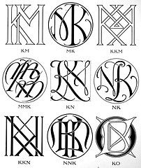 Monograms & ciphers ([1906]) (CircaSassy) Tags: typography crest font initials publicdomain monograms ciphers