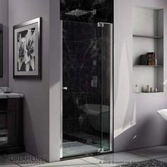 Dreamline SHDR-4234728 DreamLine Allure 34 to 35 in. Frameless Pivot Shower Door Chrome Showers Shower Doors Pivot
