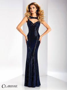 Clarisse Prom 3136 Royal High Neckline Prom Dress