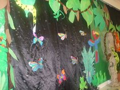 butterfly in the Jungle Display, classroom displays, class display, animal, jungle, gorilla,Early Years (EYFS), KS1 & KS2 Primary Teaching Resources