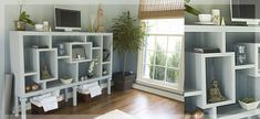 www.houzz.com -- open shelves to maximize vertical space, but still feels tranquil