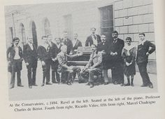 Maurice Ravel at the left
