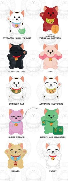 Many Lucky Cats: