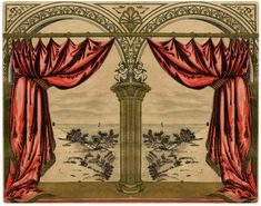 Vintage Red Drapes Image! - The Graphics Fairy