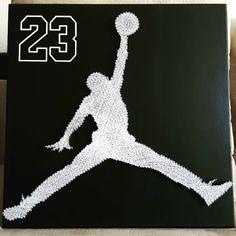 "20"" x 20"" Michael Jordan string art #23 #thegreatMJ"
