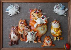 Genuine Porcelain China Made In Japan Cute Polymer Clay, Cute Clay, Fimo Clay, Ceramic Clay, Handmade Polymer Clay, Handmade Toys, 3d Art Painting, Clay Cats, Newspaper Crafts