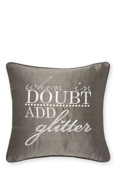 Buy 'When In Doubt Add Glitter' Cushion from the Next UK online shop