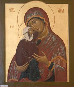 Saint Ann and the Mother of God Byzantine Icons, Byzantine Art, Religious Icons, Religious Art, Roman Church, St Anne, Picasa Web Albums, Holy Cross, Blessed Virgin Mary