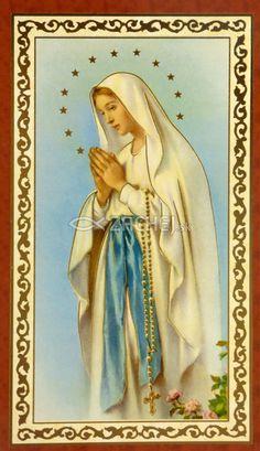 Obrázok: Panna Mária (ISK021) - s modlitbou, pozlátený, papierový | 0,16 € - obrázok