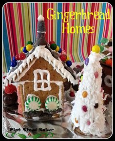 Graham Cracker Gingerbread Houses and Christmas Trees
