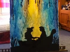 My melted crayon art :)
