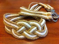 Como hacer un cinturon con cordones