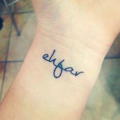 ehfar ~ Everything happens for a reason. Wrist #tattoo