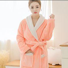 2017 Autumn Winter Bathrobes For Women Men Lady's Long Sleeve Flannel Robe Female Male Sleepwear Lounges Homewear Pyjama Femme
