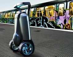 Israel's latest contribution to conserve energy and reduce GHG is the Muve - a solution to inner-city transportation, it is a 3-wheeled scooter (2 front wheels) that can fold into a trolley, a single back wheel adding to stability. Weighing 12-15 kg, it has an advantage over the electric scooter and Segway. There is a prototype basic model with a personalized exterior & battery power that will be fitted with a standard 110- or 220-volt plug; it is set to cost $2000-$3000 internationally.