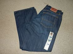 NEW Lucky Brand 181 Relaxed Straight Mens Jeans Size 34 Short Dark Wash 34 x 30