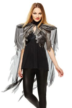 Let your Halloween fantasies take flight with this wing shoulder cape costume! Cute Costumes, Costume Ideas, Halloween Costumes, Halloween Ideas, Halloween Decorations, Shoulder Cape, Just For Fun, Favorite Holiday, Gold Glitter