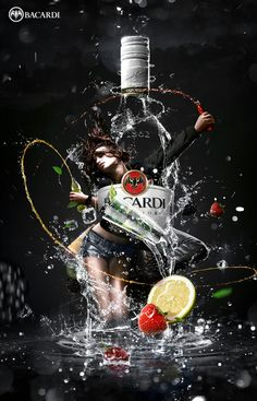Bacardi Print Ad by Alexei Maletsky, via Behance Ads Creative, Creative Posters, Creative Advertising, Advertising Design, Bacardi, Whiskey Girl, Advertising Photography, Art Graphique, Photoshop