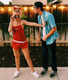 On the subject of Halloween costumes for couples, there are tons of options. Usually the scary celebration tends to bring out plenty of people in outrageous getups. Squints and Wendy Peffercorn couples Halloween costume. Easy Couple Halloween Costumes, Easy Couples Costumes, Cute Halloween Costumes, Halloween Diy, Kid Costumes, College Couple Costumes, Children Costumes, Group Costumes, Funny Couple Costumes