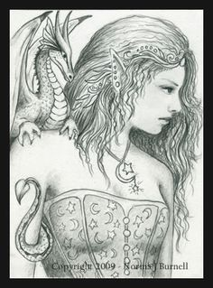 star moon fairy - Coloring Pages Dragons Fairies