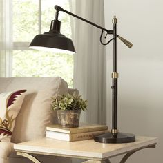 "TV room, Overall: 31"" H x 31"" D, Birch Lane Exeter Table Lamp"