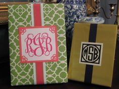 DIY tutorial on monogrammed gift wrapping