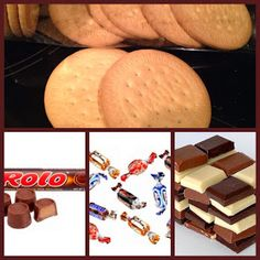 Vul ook eens je koekjes. Koekje in de oven, snoepje ertussen, laten smelten en koekje er weer op. Laten afkoelen en snoep ze. (foto 2)