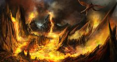 Volcano , mk five on ArtStation at https://www.artstation.com/artwork/z94r2