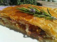 Me sabe a Málaga: Empanada de dátiles y bacon al vino dulce de Málag...