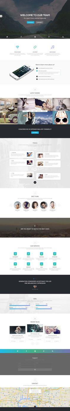 Onado One Page Theme on Behance Wordpress Theme Design, Ui Ux Design, Mobile Web Design, First Page, Logo Inspiration, Ecommerce, Gallery, Behance, Website