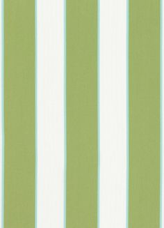 Oasis Awning Outdoor Fabric A bold and beautiful outdoor fabric with companion stripe design, shown in kiwi green, aqua and white.