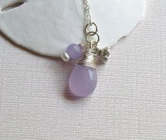 Hyacinth  Necklace  Wire Wrapped Candy Jade by oliviasgarden