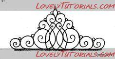 корона,тиара,tiara templates - Мастер-классы по украшению тортов Cake Decorating Tutorials (How To's) Tortas Paso a Paso