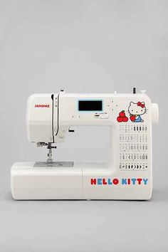 Janome 15822 Hello Kitty Sewing Machine Online Only Lippi Evans Easy Sewing Projects, Sewing Projects For Beginners, Sewing Machine Online, Types Of Stitches, Vintage Sewing Machines, Sewing Studio, Love Sewing, Janome, Buttonholes