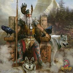 Odin the Allfather - Norse Gods - History of Vikings Read now Art Viking, Viking Life, Viking Warrior, Viking Woman, Odin Norse Mythology, Norse Pagan, Thor, Germanic Tribes, Asatru