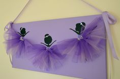 Lavender ballerina wall art. Large 12X24 canvas. by FlorasShop