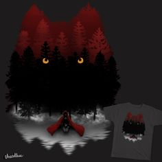 Never Cry Wolf on Threadless Little Red Riding Hood shirt design