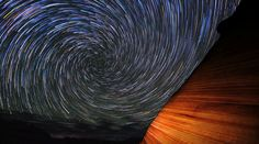 """Wavelight. Star trails and wave formations in sandstone make for a remarkable timelapse at the Wave in Arizona. (Credit: Gavin Heffernan and Harun Mehmedinović) Music: """"Nebula"""" by Mark Petrie."""