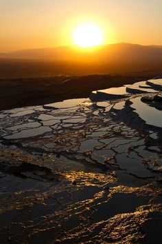 Another incredible sunset in #Pamukkale!