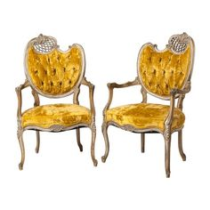 French-Style Armchairs, Pair Vintage : On Antique Row - West Palm Beach - Florida West Palm Beach, Take A Seat, Love Seat, Antique Armchairs, Victorian Furniture, French Style, Hand Carved, Vintage, Upholstery