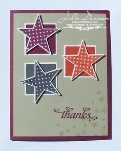 Julie's Stamping Spot -- Stampin' Up! Project Ideas Posted Daily: Starry Thank You