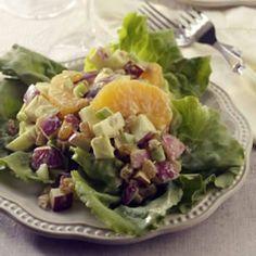 refreshingly crunchy salad coated with lemon yogurt dressing. | Salads ...