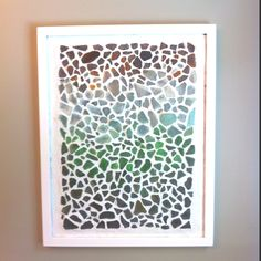 Sea Glass Mosaic - maybe do this mosaic on a glass frame and hang; then light can shine through
