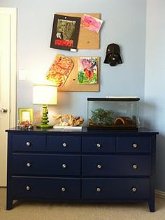 Dark Blue Painted Furniture With Silver Hardware I M Doing This To Aidan S Dresser